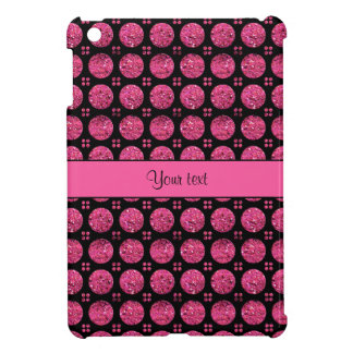 Glitzy Sparkly Hot Pink Glitter Buttons Case For The iPad Mini