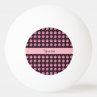Glitzy Sparkly Pink Glitter Buttons Ping Pong Ball