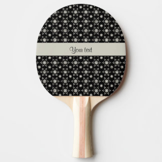 Glitzy Sparkly Silver Glitter Stars Ping Pong Paddle