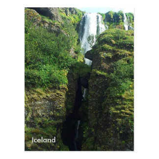 Gljúfrabúi waterfall, Hamragardar, South Iceland Postcard