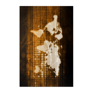 Global Access of Service and Technology Solutions Acrylic Wall Art