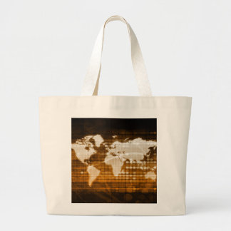 Global Access of Service and Technology Solutions Large Tote Bag