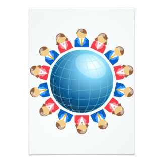 Global Business Men And Women Invitations
