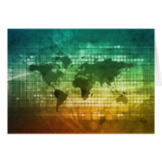 Global Business Strategy and Development Greeting Card
