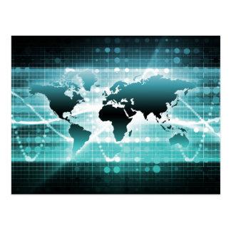 Global Business Technology Futuristic Traveler Postcard