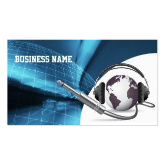 Global Call Center Sales Support Business Card