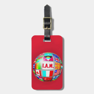 GLOBAL CITIZEN EARTH GLOBE INTERNATIONAL FLAGS TAG
