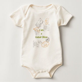 Global Citizen or guest for the world Baby Bodysuit