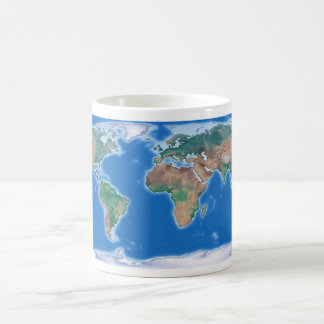 Global Coffee Cup World Map