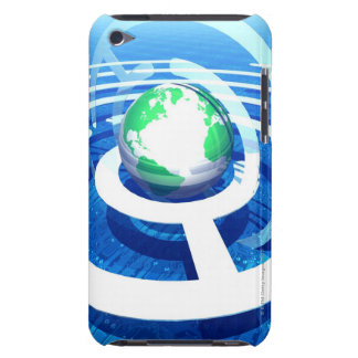 Global communication, conceptual computer 2 iPod touch Case-Mate case