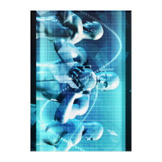 Global Conference Concept as a Abstract Background Acrylic Wall Art