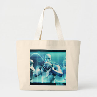 Global Conference Concept as a Abstract Background Large Tote Bag