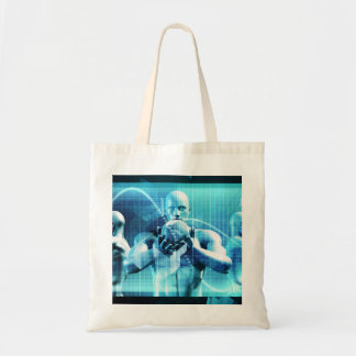 Global Conference Concept as a Abstract Background Tote Bag