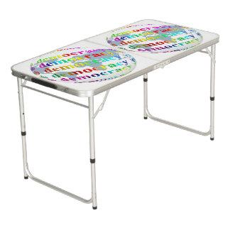 Global Democracy Pong Table