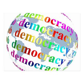 Global Democracy Postcard