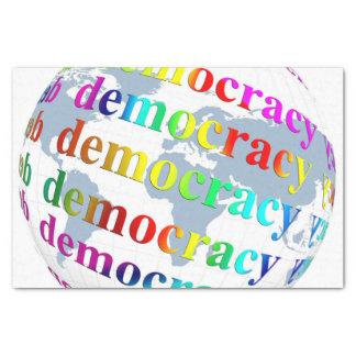 Global Democracy Tissue Paper