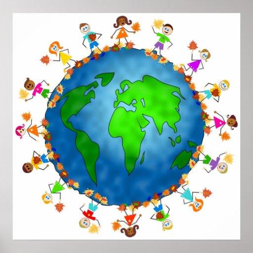 Global Fall Kids Posters