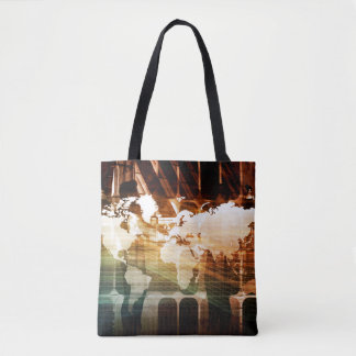 Global Management Technology Process as a Concept Tote Bag