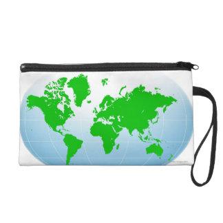 Global Map Wristlet
