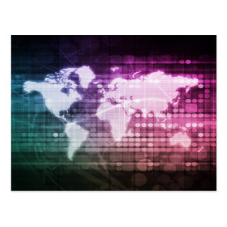 Global Network Connection and Integrated Postcard