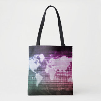 Global Network Connection and Integrated System Tote Bag