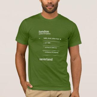Global Pan System Directions - white print T-Shirt