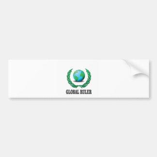 global Ruler green Bumper Sticker