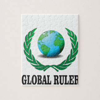 global Ruler green Jigsaw Puzzle