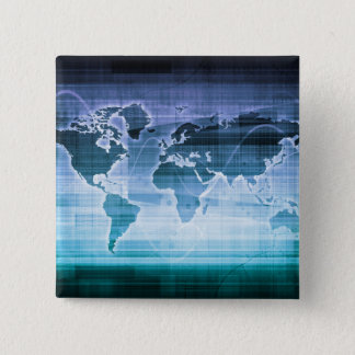 Global Technology Solutions 15 Cm Square Badge