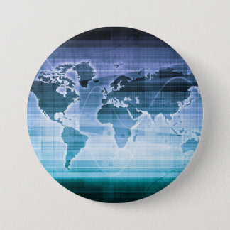 Global Technology Solutions 7.5 Cm Round Badge