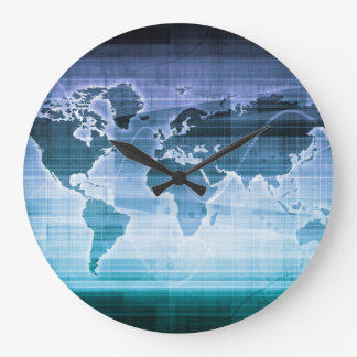 Global Technology Solutions Large Clock