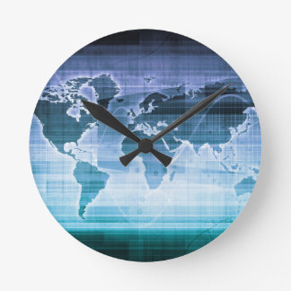 Global Technology Solutions Round Clock