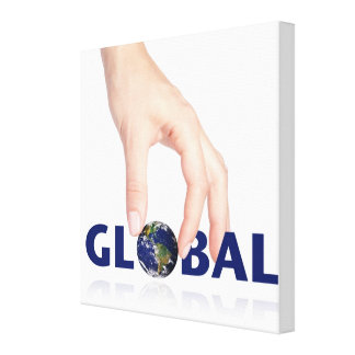 Global unity,modern clear photo illustration globe canvas prints