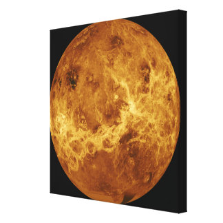 Global view of the surface of Venus Canvas Print