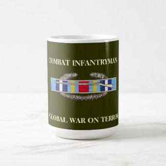 Global War on Terror Ribbon Background CIB Mug