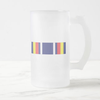 Global War on Terrorism Ribbon Frosted Glass Mug