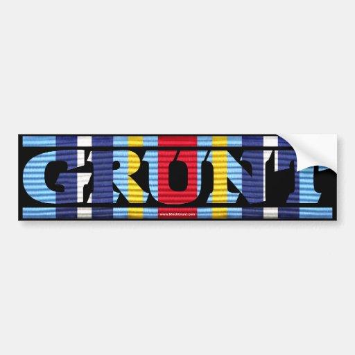 Global War on Terrorism Ribbon GRUNT Sticker Bumper Stickers