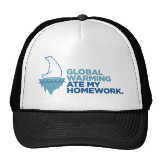 Global Warming Ate My Homework - Light Apparel Mesh Hats
