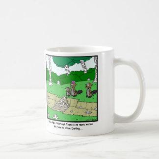 Global Warming: Beaver cartoon Coffee Mug