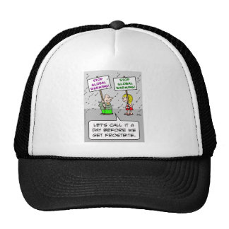 global warming before frostbite mesh hat