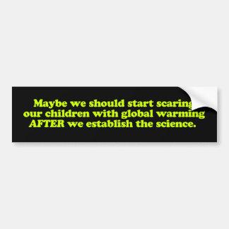 Global Warming & Children Bumper Sticker