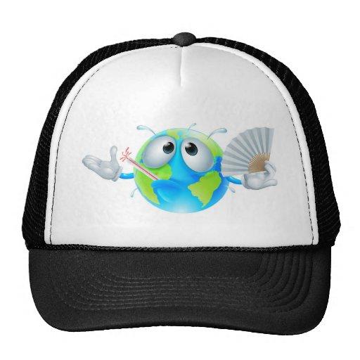 Global warming concept mesh hat