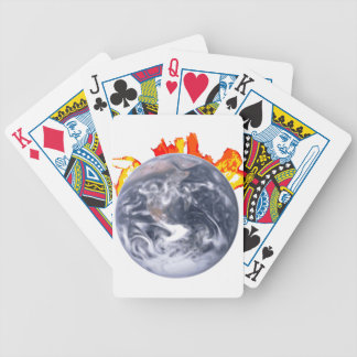 Global Warming Earth Bicycle Playing Cards