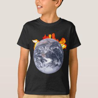 Global Warming Earth T-Shirt