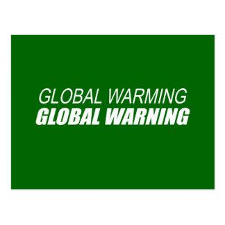 GLOBAL WARMING GLOBAL WARNING POST CARD