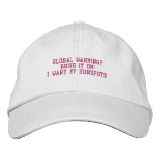 GLOBAL WARMING - HAT EMBROIDERED BASEBALL CAP
