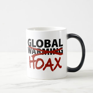 Global Warming Hoax Morphing Mug
