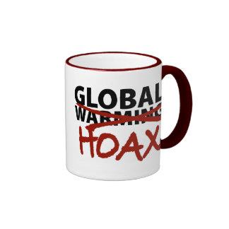 Global Warming Hoax Ringer Mug