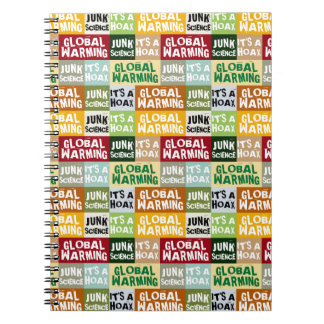 Global Warming Hoax Spiral Note Books