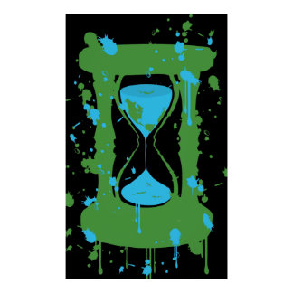 Global Warming Hourglass Poster